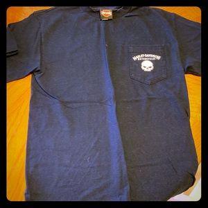 Navy Blue Harley Davidson T Shirt